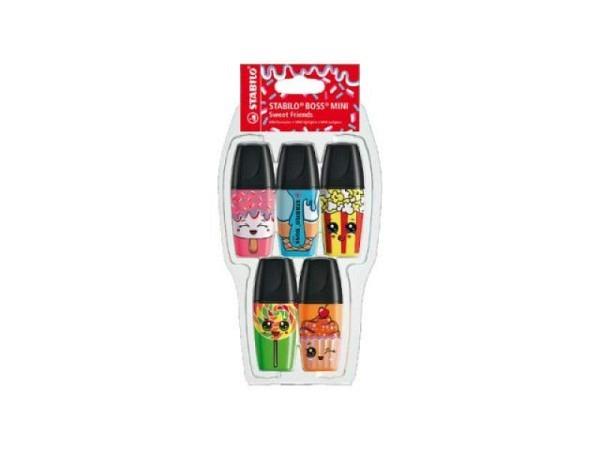 Leuchtstift Stabilo Boss Mini Sweet Friends 5er Set