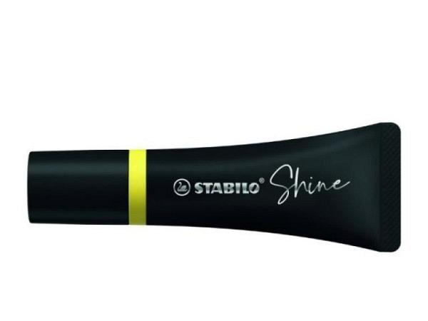 Leuchtstift Stabilo Shine gelb, Keilspitze für Strichstärken von 2-5mm