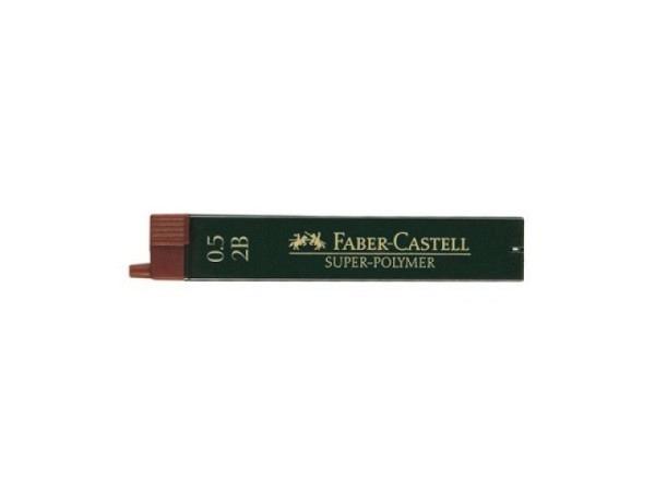 Mine Faber-Castell 0,5mm 2B Dose mit 12Stk., 60mm lang