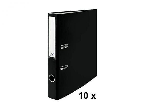 Ordner Büroline A4 2Ring 4cm schwarz Sparpaket mit 10Stk