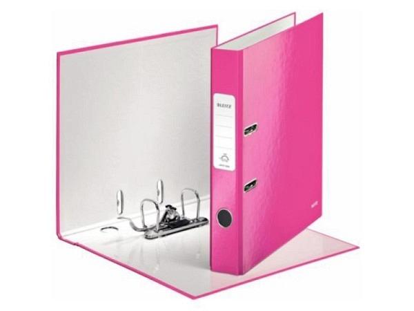Ordner Leitz Wow pink 5cm, mit patentierter 180°