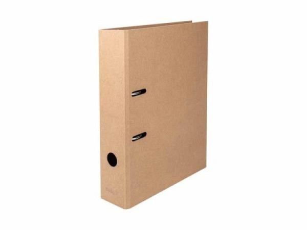 Ordner Biella Minimal Design A4 2 Ring 7cm Rückenbreite Kraftpapier braun