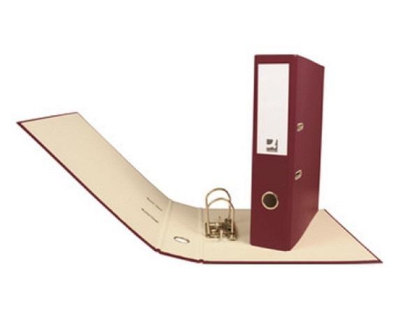 Ordner Connect 7cm weinrot A4, Decke mit farbigem PP-Überzug