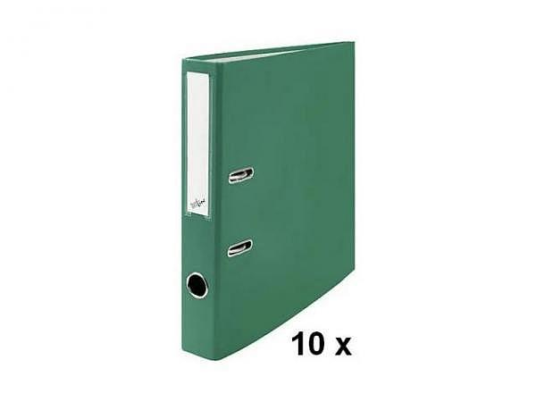 Ordner Büroline A4 2Ring 4cm grün Sparpaket mit 10Stk.