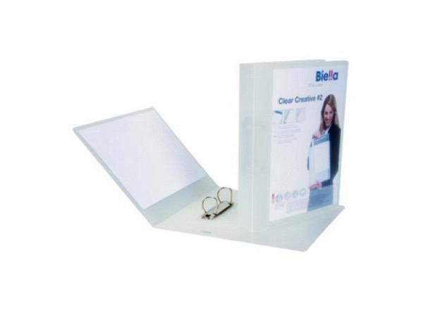Ringbuch Biella Clear Creative 2 transparent farblos A4 4,5cm
