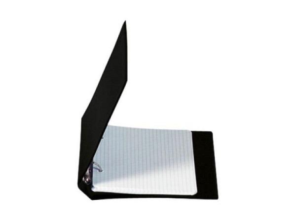 Ringbuch Biella Kunststoffüberzug schwarz A6