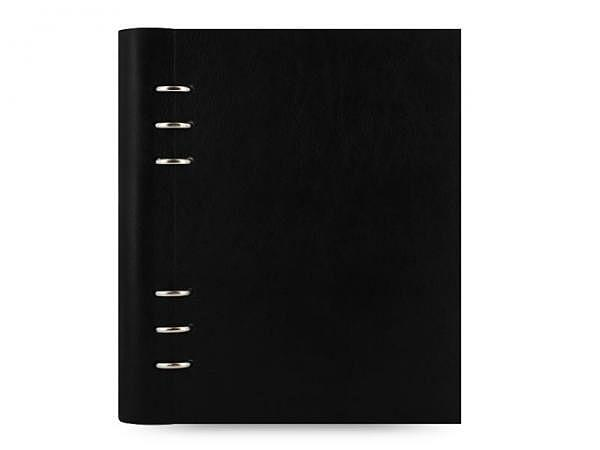 Ringbuch Filofax Clipbook A5 schwarz Kunstleder Softcover