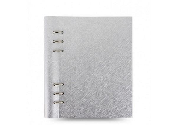 Ringbuch Filofax Clipbook A5 Saffiano Metallics silber