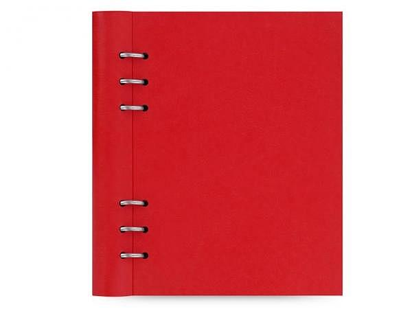 Ringbuch Filofax Clipbook A5 rot Kunstleder Softcover