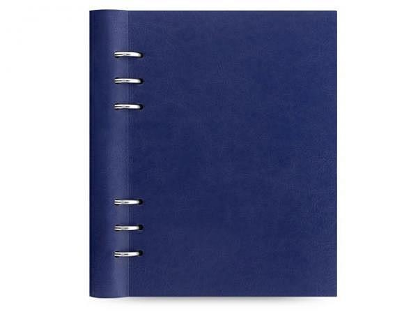 Ringbuch Filofax Clipbook A5 navy blau Kunstleder Softcover