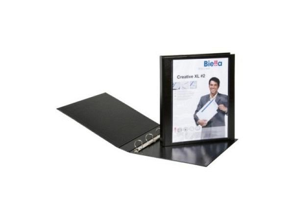 Zeigbuch Biella Creative XL 2 A4 4cm schwarz, 4-Ring