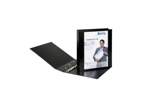 Zeigbuch Biella Creative XL 2 A4 7cm schwarz, 4-Ring