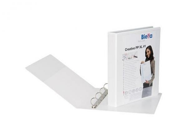 Zeigbuch Biella Creative PP XL 1 A4 6cm weiss, 4-Ring