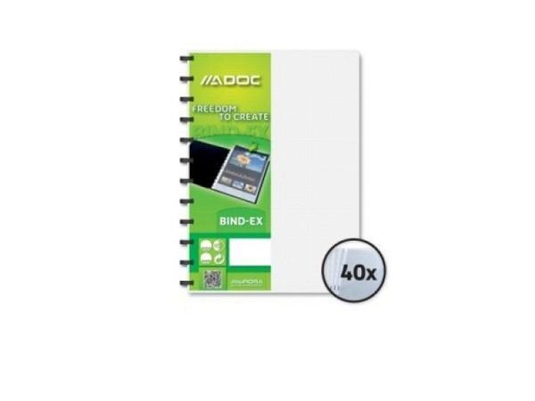 Sichtbuch Adoc A4 40Taschen, transparent farblos