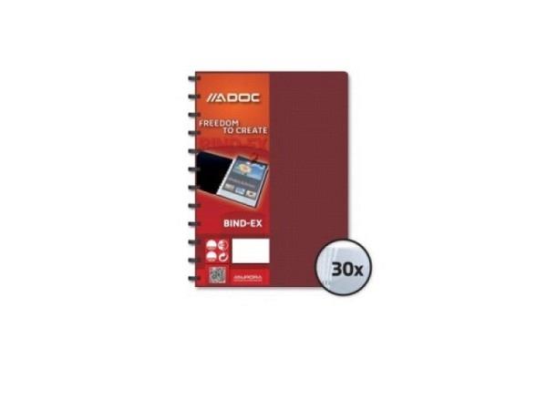Sichtbuch Adoc A4 30Taschen, bordeaux-rot Kunststoffdeckel