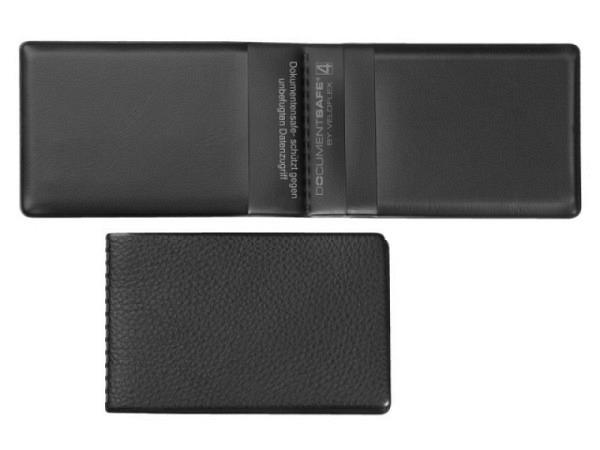 Kreditkartenetui Veloflex Documentsafe 4 schwarze Ausweis.