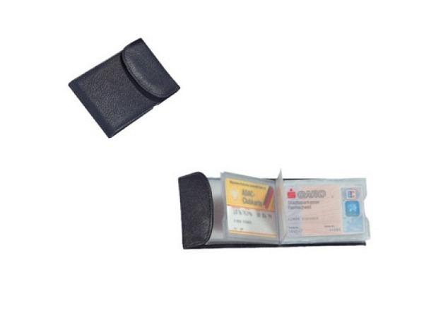 Kreditkartenetui Alassio Leder schwarz für 10 Karten