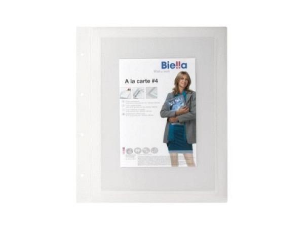 Menukartenhülle Biella 4 A4 Inhaltskarte transparent 2Stk.