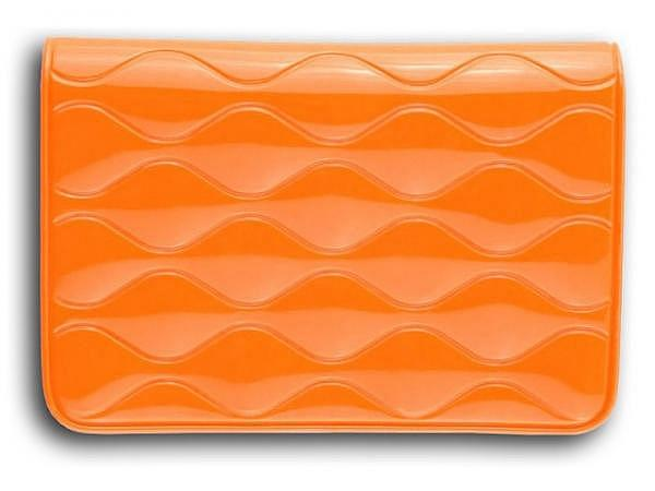 Kreditkartenetui Biz Card orange 10x7cm mit 2 Innentaschen