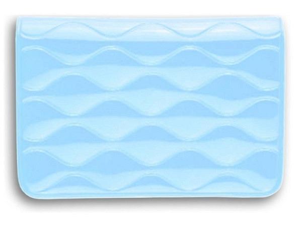 Kreditkartenetui Biz Card hellblau 10x7cm mit 2 Innentaschen
