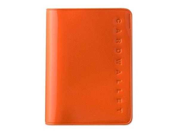 Kreditkartenetui Card Plus orange fürs Aufbewahren Banknoten