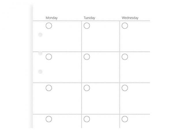 Ringbucheinlagen Filofax Clipbook A5 Monatsplaner undatiert