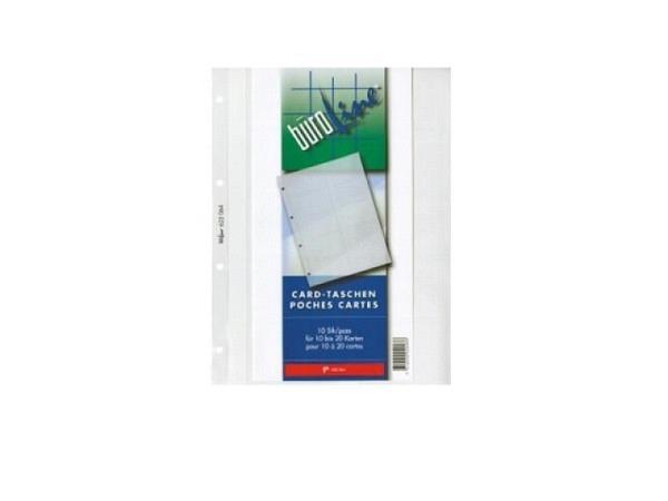 Zeigtaschen Büroline A4 für 10 Badgekarten 10Stk.