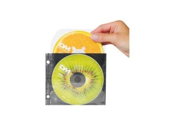 Zeigtaschen 3L für CD's und DVD's mit Klappe farblos