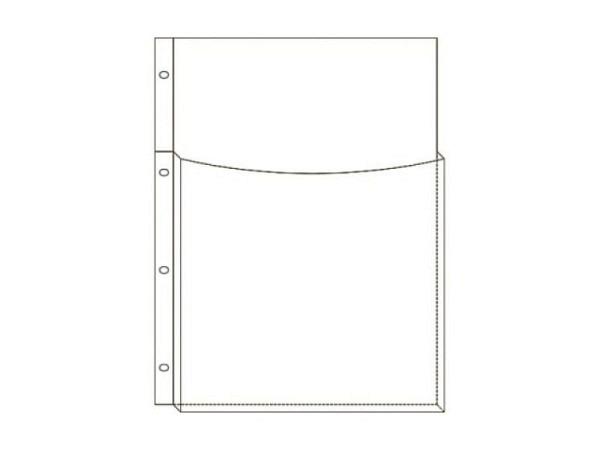 Zeigtaschen Biella A4 Känguruh mit Seitenfalz 5Stk