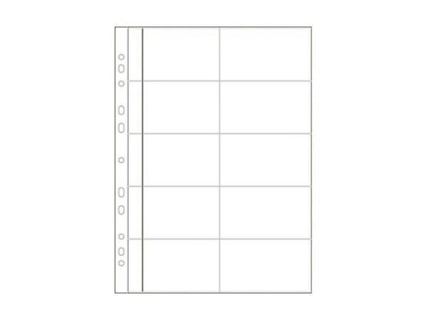 Zeigtaschen Biella A4 Visitenkarten bis 55x100mm