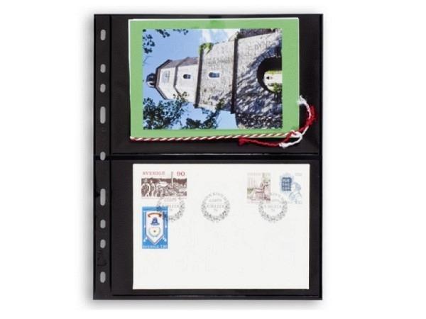 Zeigtaschen Leuchtturm Briefmarkenh. Optima 2S schwarz 10St