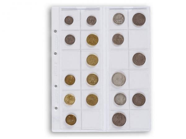 Zeigtaschen Leuchtturm Münzhülle Optima 34 5Stk. 24 Münzen