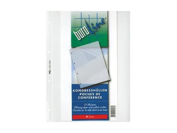 Zeigtaschen Büroline A4 Kongresshüllen 10Stk. PP glaskar