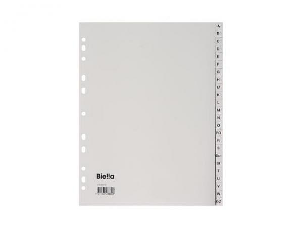 Register Biella XL Kunststoff grau A4 übergross A-Z .