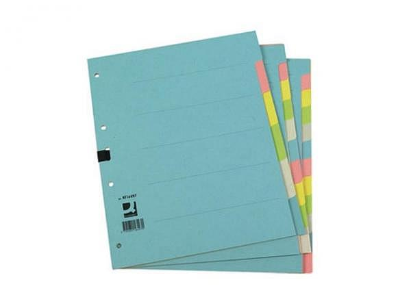 Register Connect Karton farbig blanko A4 6tlg