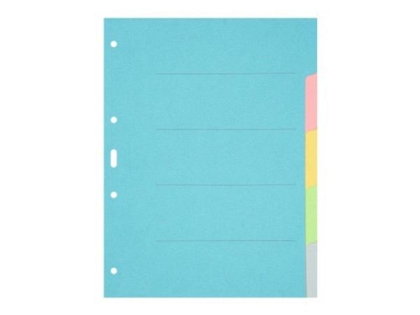 Register Büroline Karton farbig 5tlg. A4