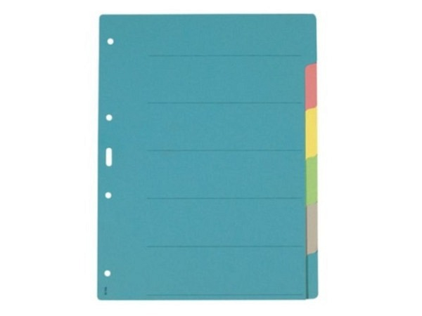 Register Büroline Karton farbig 6tlg. A4
