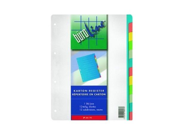 Register Büroline Karton farbig 12tlg.  A4