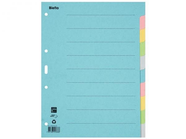 Register Biella Karton pastellfarben 200g/qm A4 10tlg