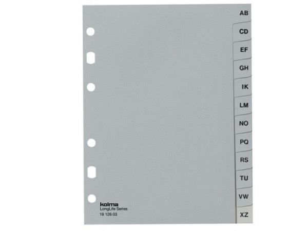 Register Kolma Kunststoff grau Longlife A6 A-Z