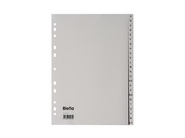 Register Biella Kunststoff grau A4 A-Z 24tlg.