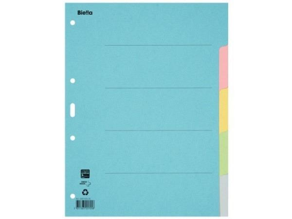 Register Biella Karton pastellfarben 200g/qm A4 5tlg,