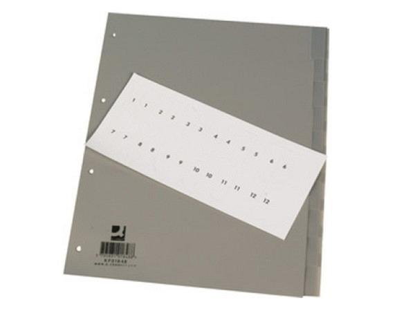 Register Biella Karton grau/weiss A4 10tlg