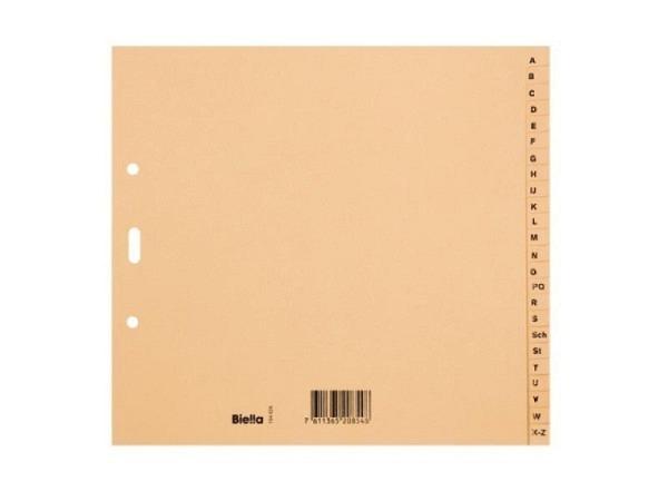 Register Biella Karton braun A4 teildeckend A-Z 24tlg
