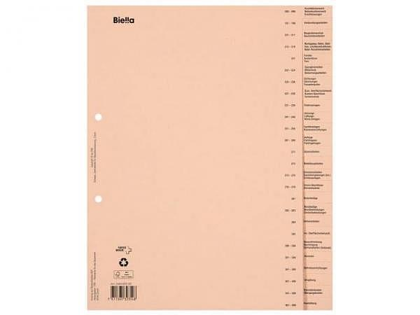 Register Biella Bauabrechnung beschriftet deutsch