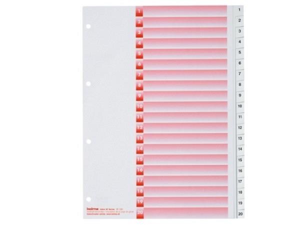 Register Kolma Kunststoff weiss Kolmaflex A4 1-20