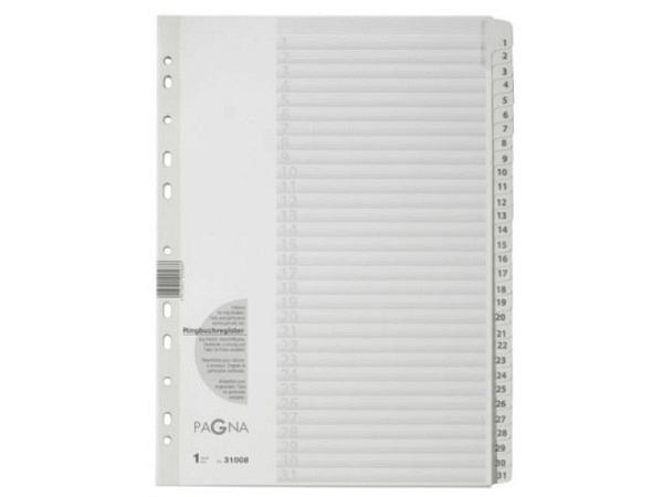Register Kolma XL Kunststoff grau Longlife A6 überbreit 1-5