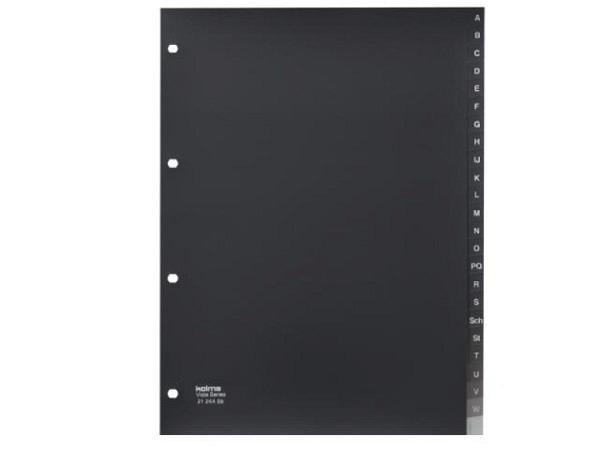 Register Kolma Kunststoff Vista transparent rauch A4 A-Z