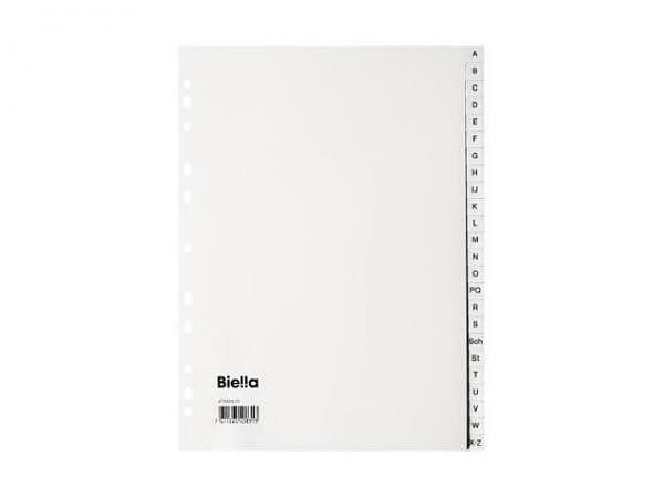 Register Biella Kunststoff weiss A4 A-Z