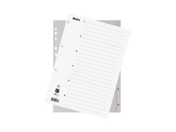 Register Biella Kunststoff grau A4 1-6